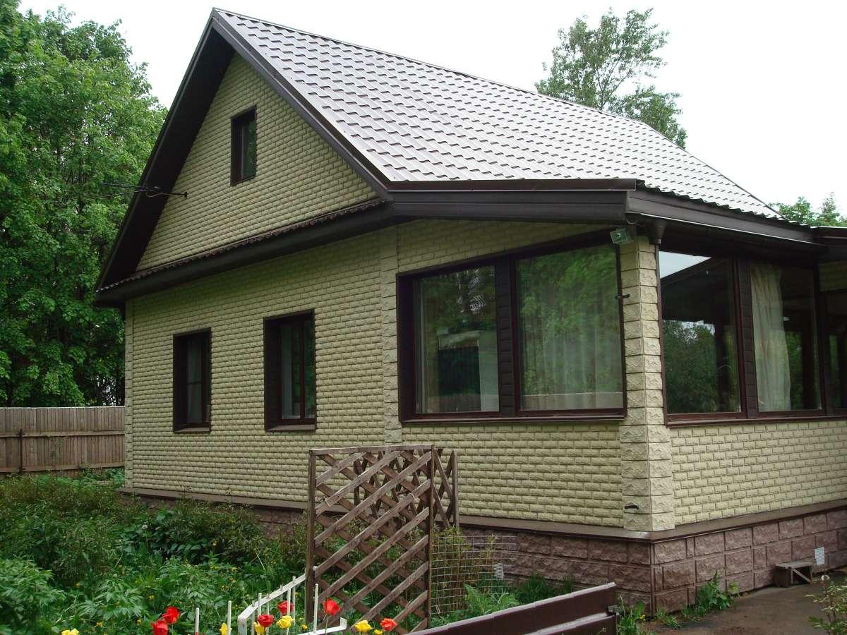 Отделка фасадов частных домов панели