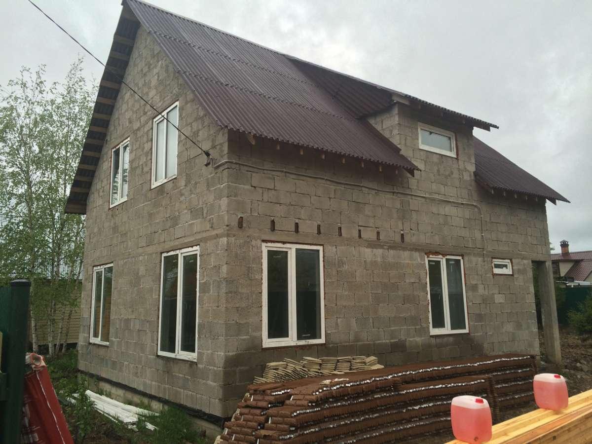 дом бетон кирпич